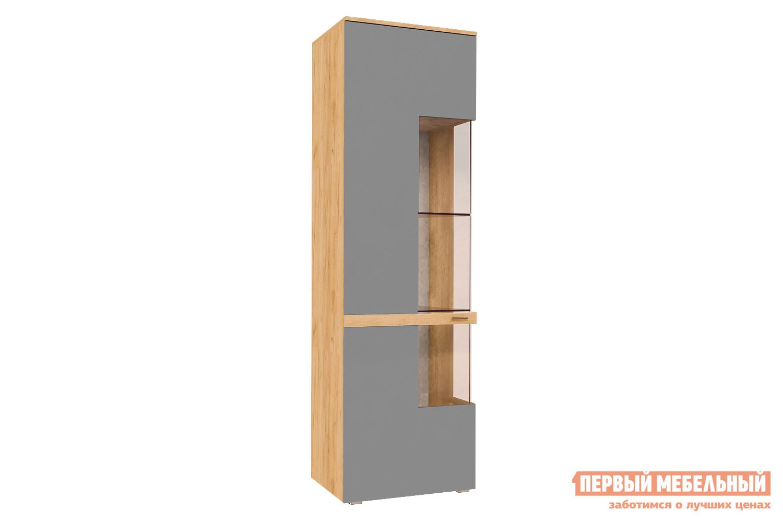 Шкаф-витрина  Шкаф-витрина Рихтер Дуб золотой / Серый шифер, глянец