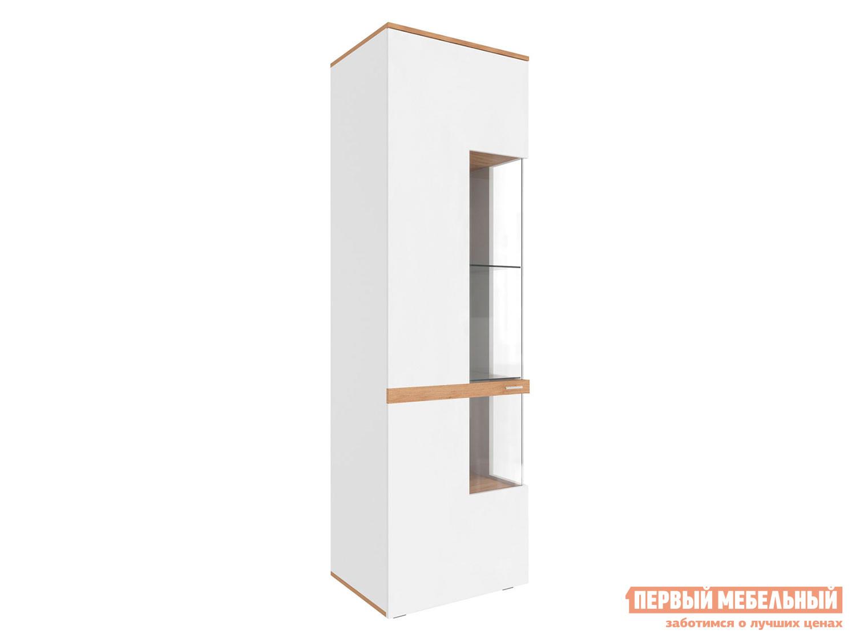 Шкаф-витрина  Шкаф-витрина Рихтер Дуб золотой / Белый глянец