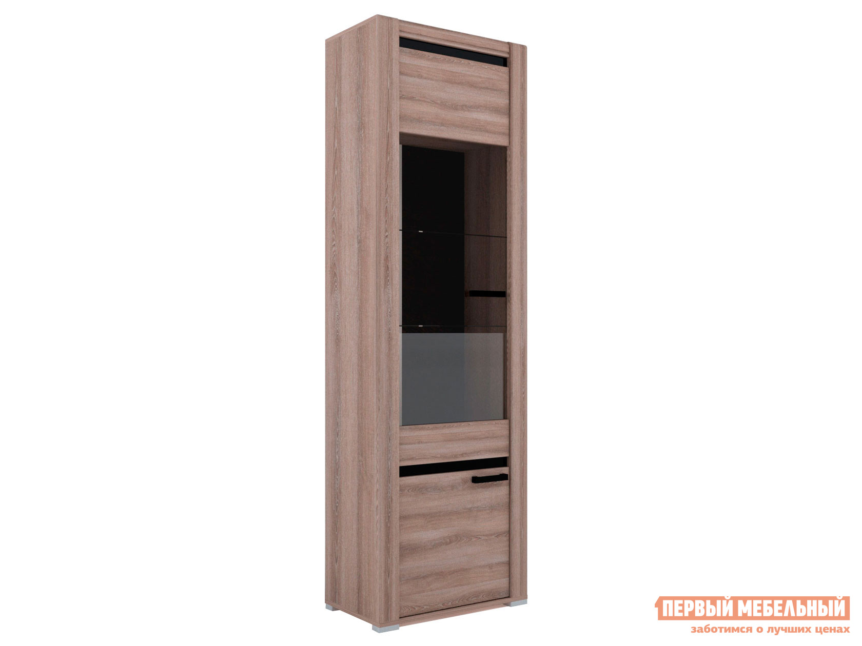 Шкаф-витрина Первый Мебельный Бруна Б-2 шкаф со стеклом