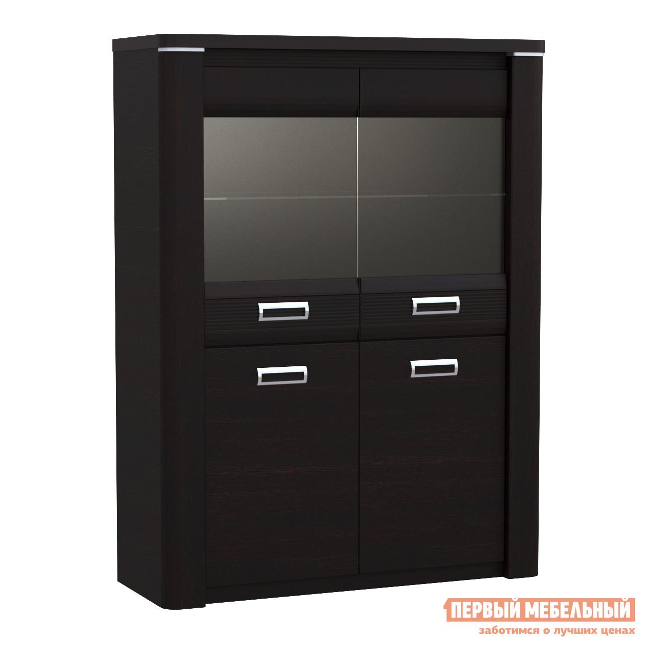 Шкаф-витрина Первый Мебельный Магнолия ГМ-5 пенал со стеклом низкий