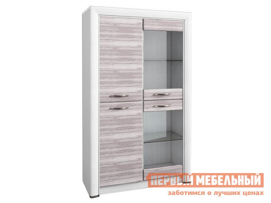 Шкаф-витрина Первый Мебельный Шкаф-витрина низкий Оливия шкаф витрина с ящиком первый мебельный шкаф 600 со стеклом парма люкс