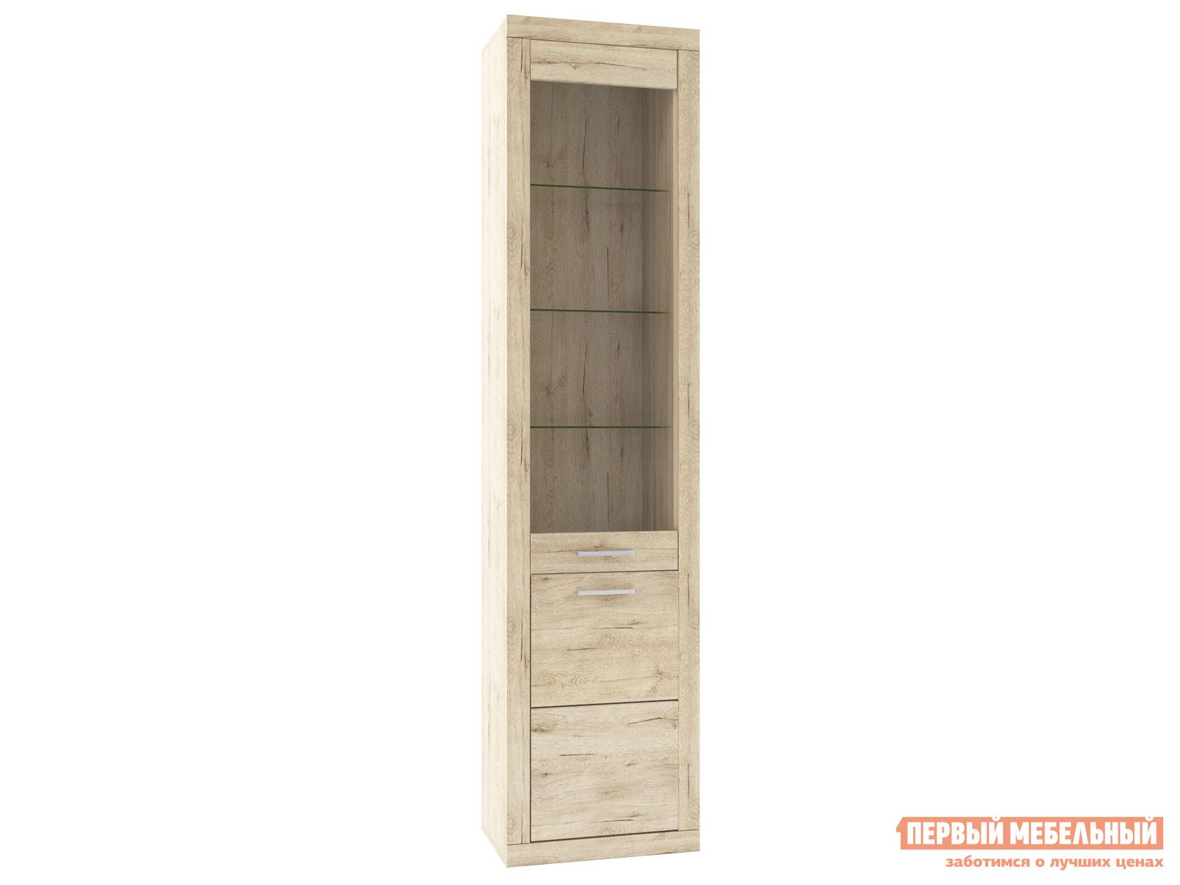 Шкаф-витрина Первый Мебельный Пенал-витрина Оскар шкаф пенал первый мебельный пенал оскар 7 со штангой