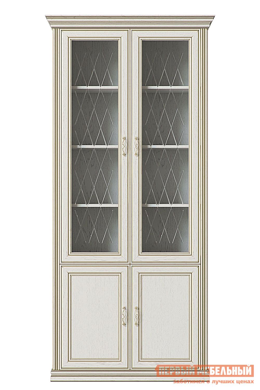 Шкаф-витрина Первый Мебельный Шкаф 4-х дверный (2 стеклодвери) Венето шкаф распашной первый мебельный шкаф 2 х дверный с зеркалом венето