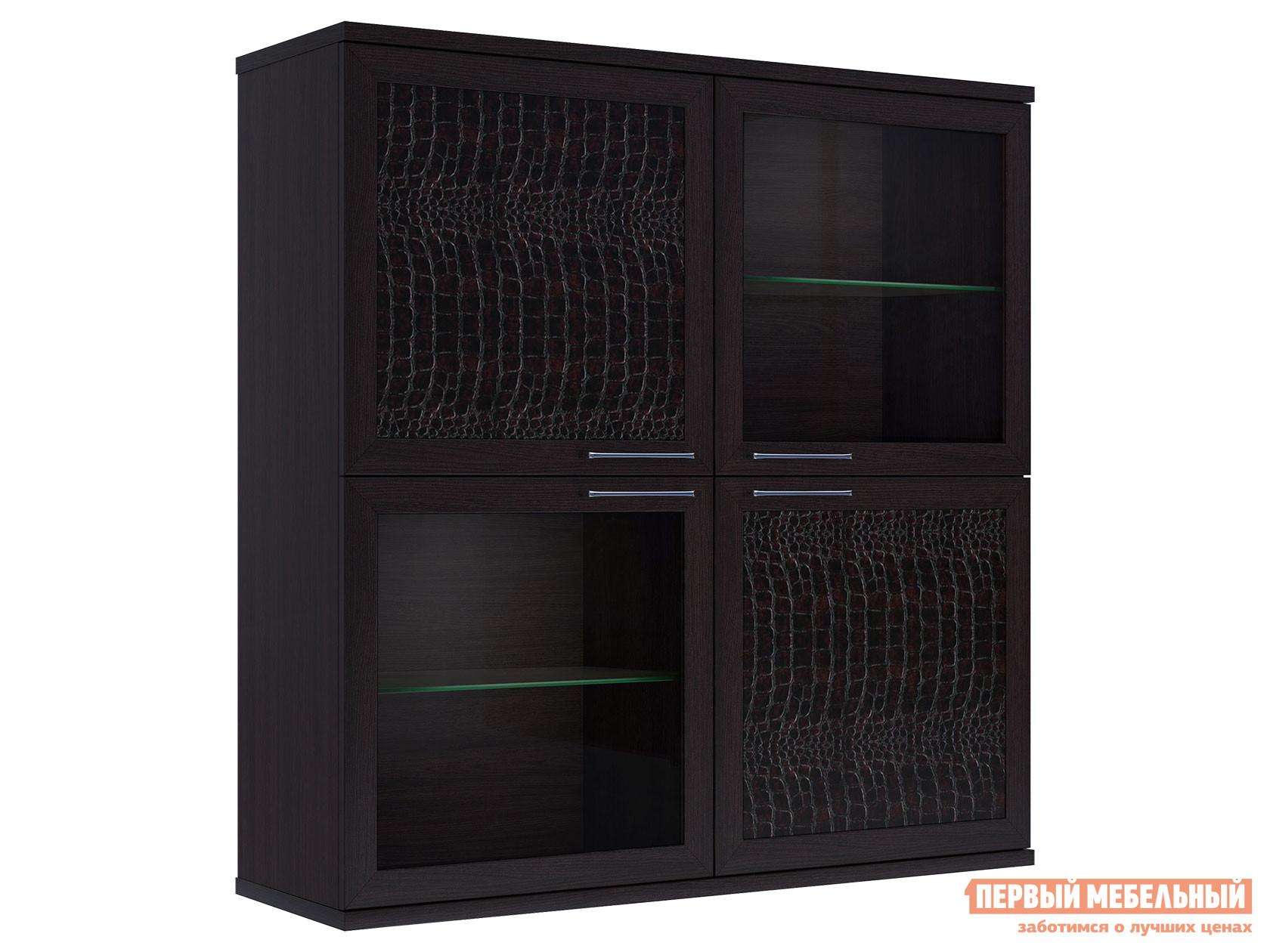 Фото - Шкаф-витрина Первый Мебельный Полка 4-х дверная (2 стеклодвери) Парма Люкс витрина шкаф витрина 4 х дверная куба куба