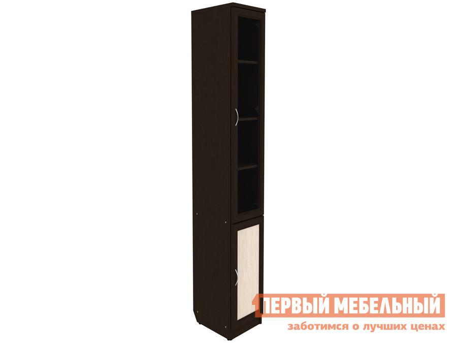 Шкаф-витрина  Шкаф-витрина Мерлен 201 Венге / Молочный дуб