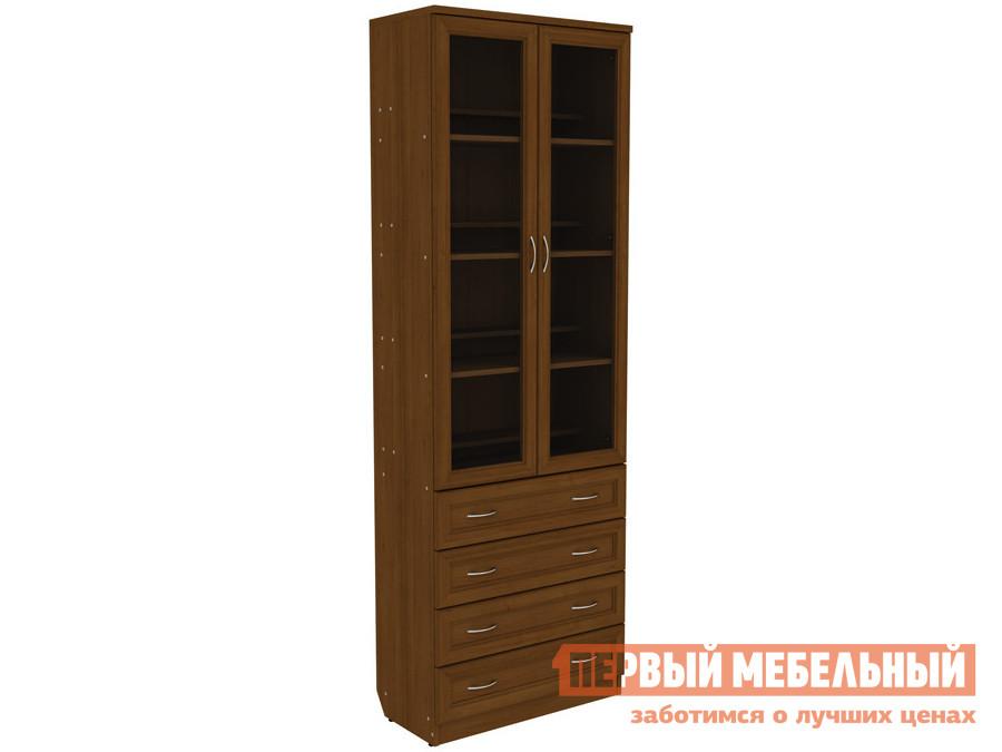 Шкаф-витрина  Шкаф-витрина Мерлен 204 с ящиками Дуб