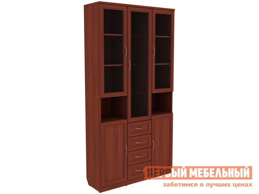 Шкаф-витрина  Шкаф-витрина Мерлен 210 с ящиками Итальянский орех — Шкаф-витрина Мерлен 210 с ящиками Итальянский орех