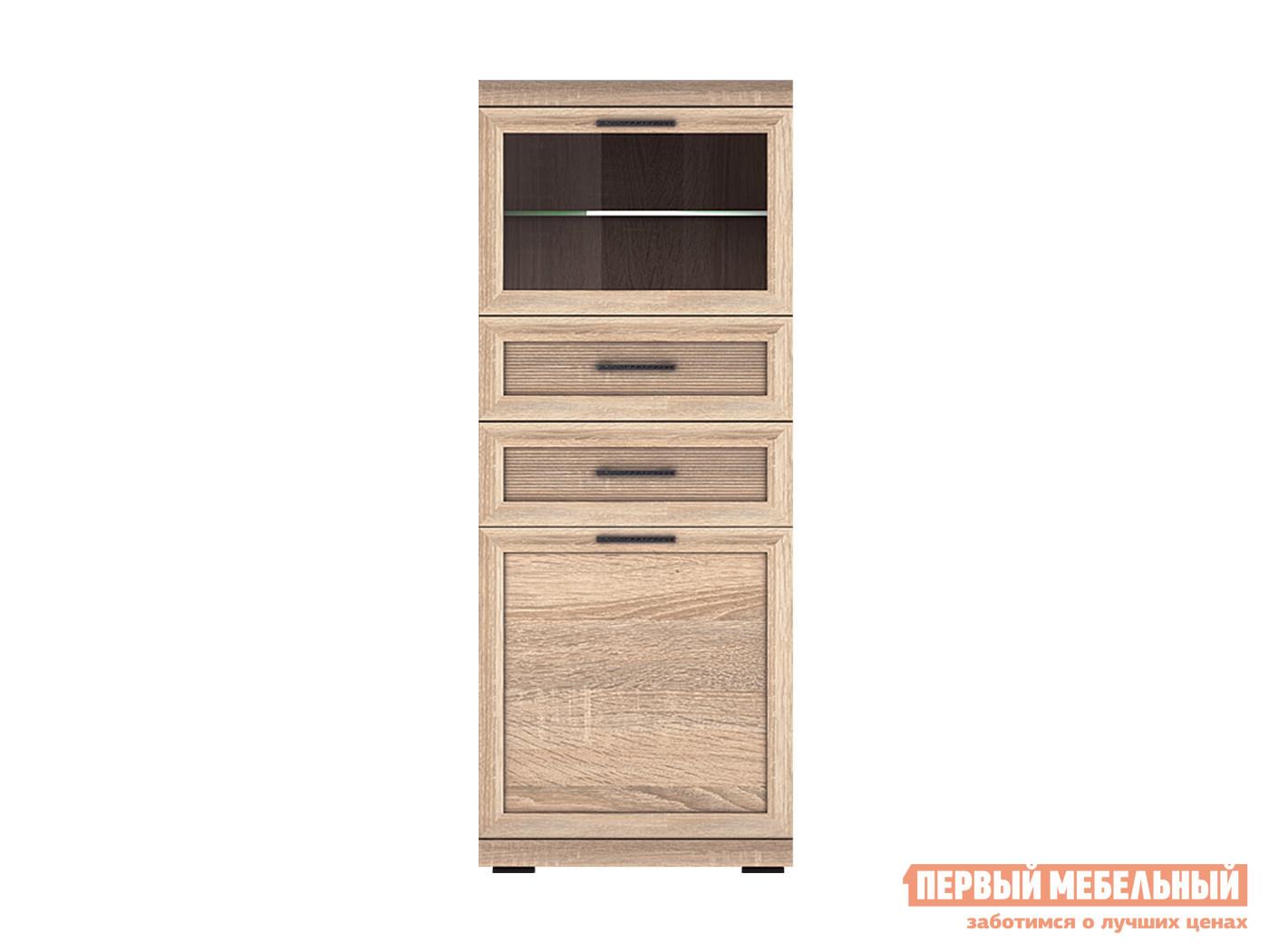 Шкаф-витрина Первый Мебельный Вега Прованс 6 шкаф комбинированный прованс нм 009 17