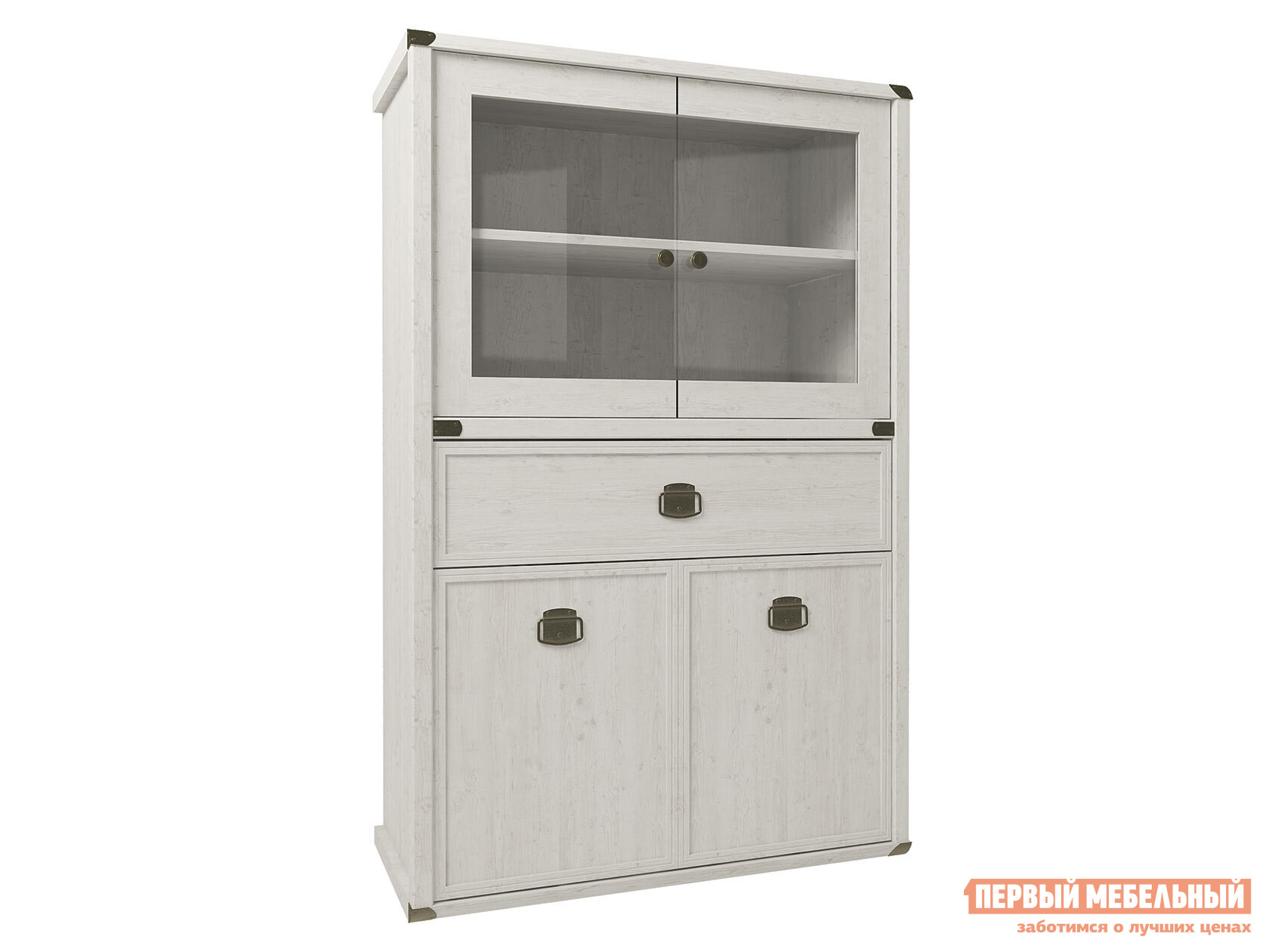 Шкаф-витрина Первый Мебельный Шкаф-витрина низкий Магеллан шкаф витрина первый мебельный пенал витрина низкий оскар