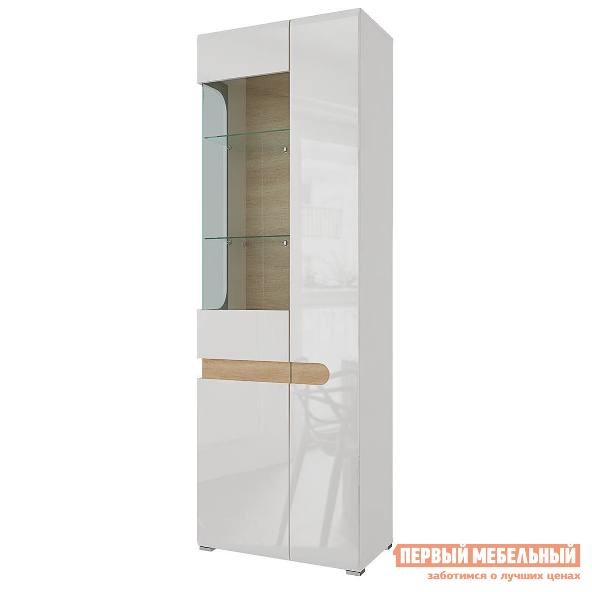 Шкаф-витрина Первый Мебельный Шкаф-витрина Кальяри