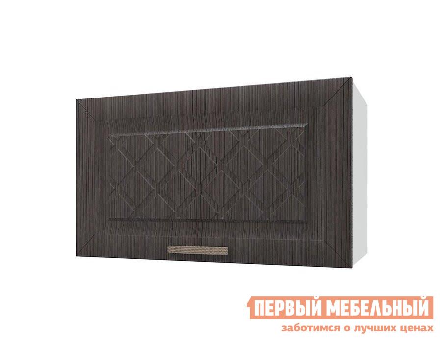 Шкаф-сушка ПМ: РДМ Шкаф антресольный 1 дверь 60 см Агава Лиственница темная