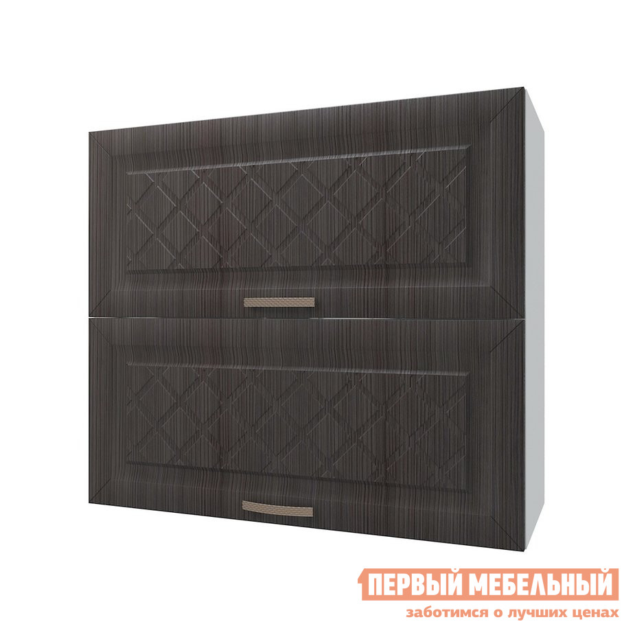 Кухонный модуль Шкаф антресольный 2 двери 80 см Агава Лиственница темная фото