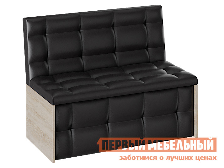 Кухонный диван  Кухонный диван Кредо Дуб сонома / Шоколад, экокожа