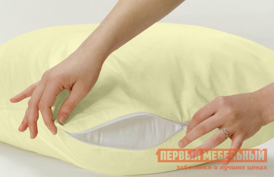 Наволочка  Наволочка (Т-М)  нежно-желтый (2 шт.) Нежно-жёлтый, 500 Х 700 мм