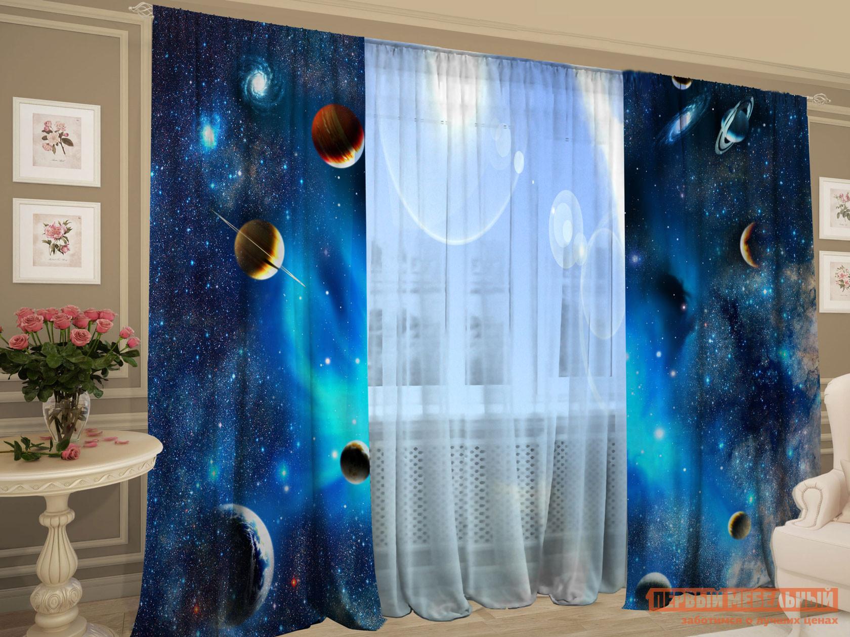 Комплект штор с тюлем Первый Мебельный Виртуальная реальность
