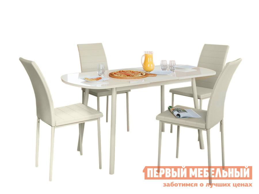 Обеденная группа для столовой и гостиной Обеденная группа Мидел Кремовый фото