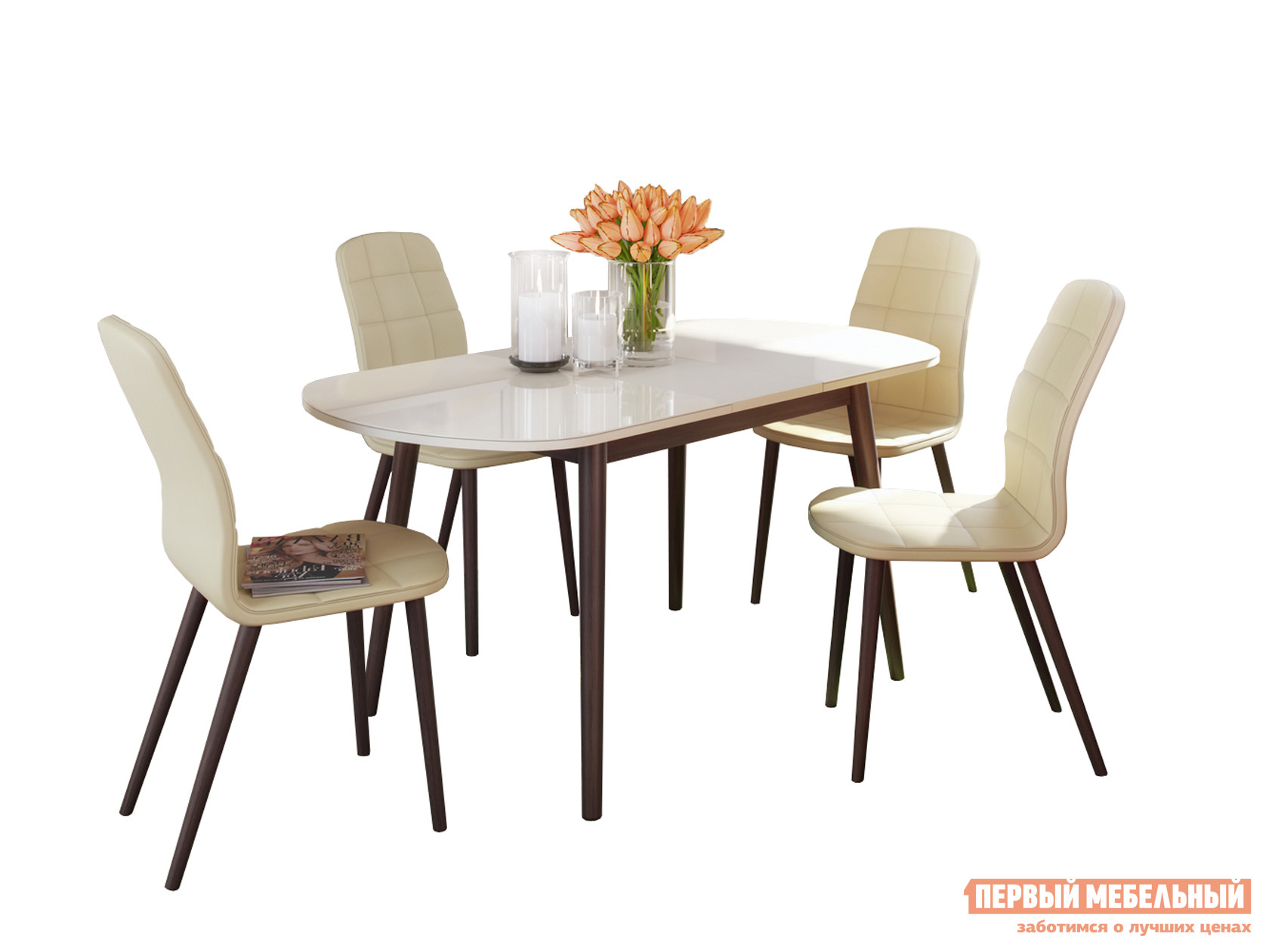 Обеденная группа для столовой и гостиной  Обеденная группа Акра Венге — Обеденная группа Акра Венге
