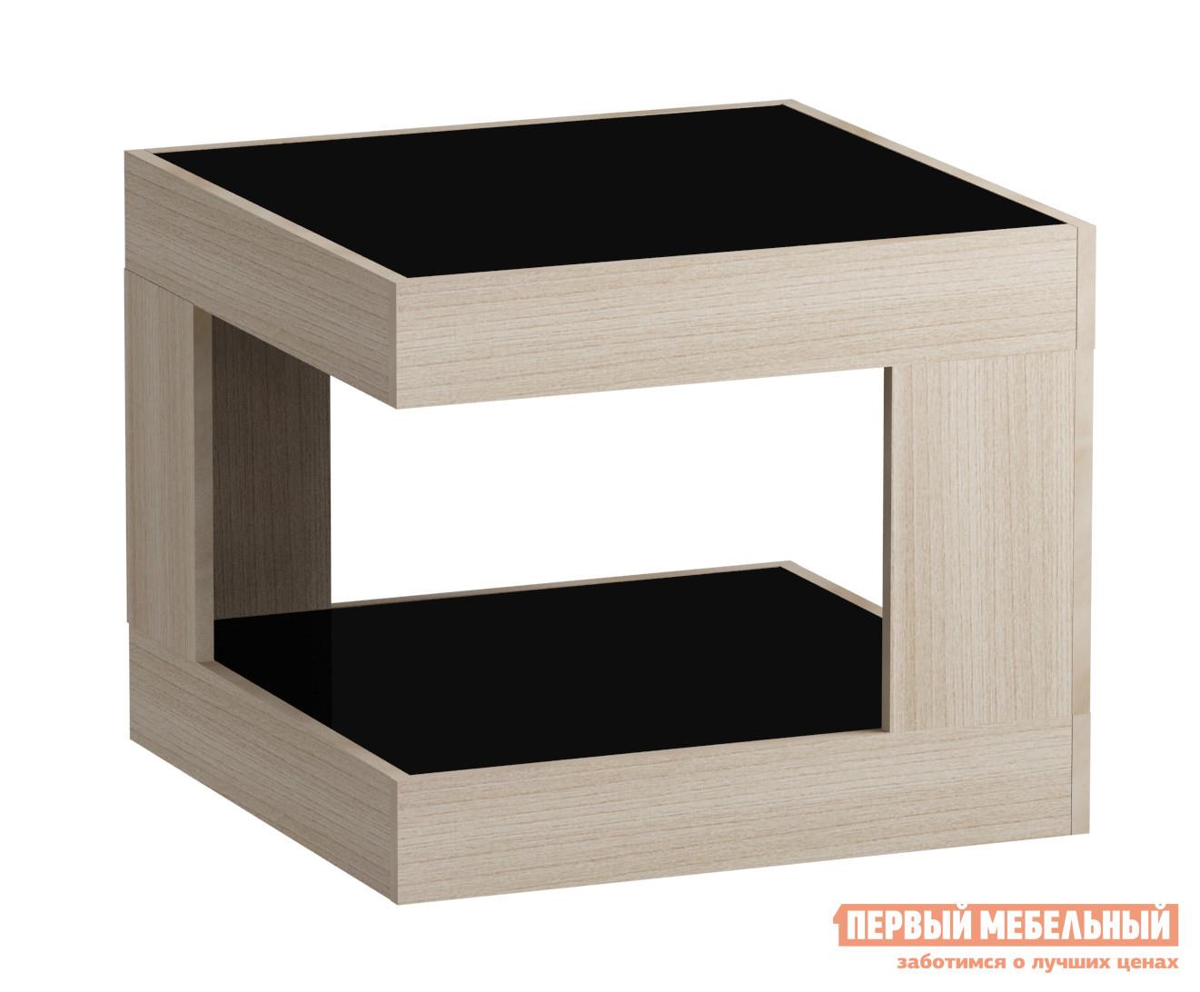 Журнальный столик Мебель Импэкс Leset LS 746 Ясень Шимо светлый / Черное стекло