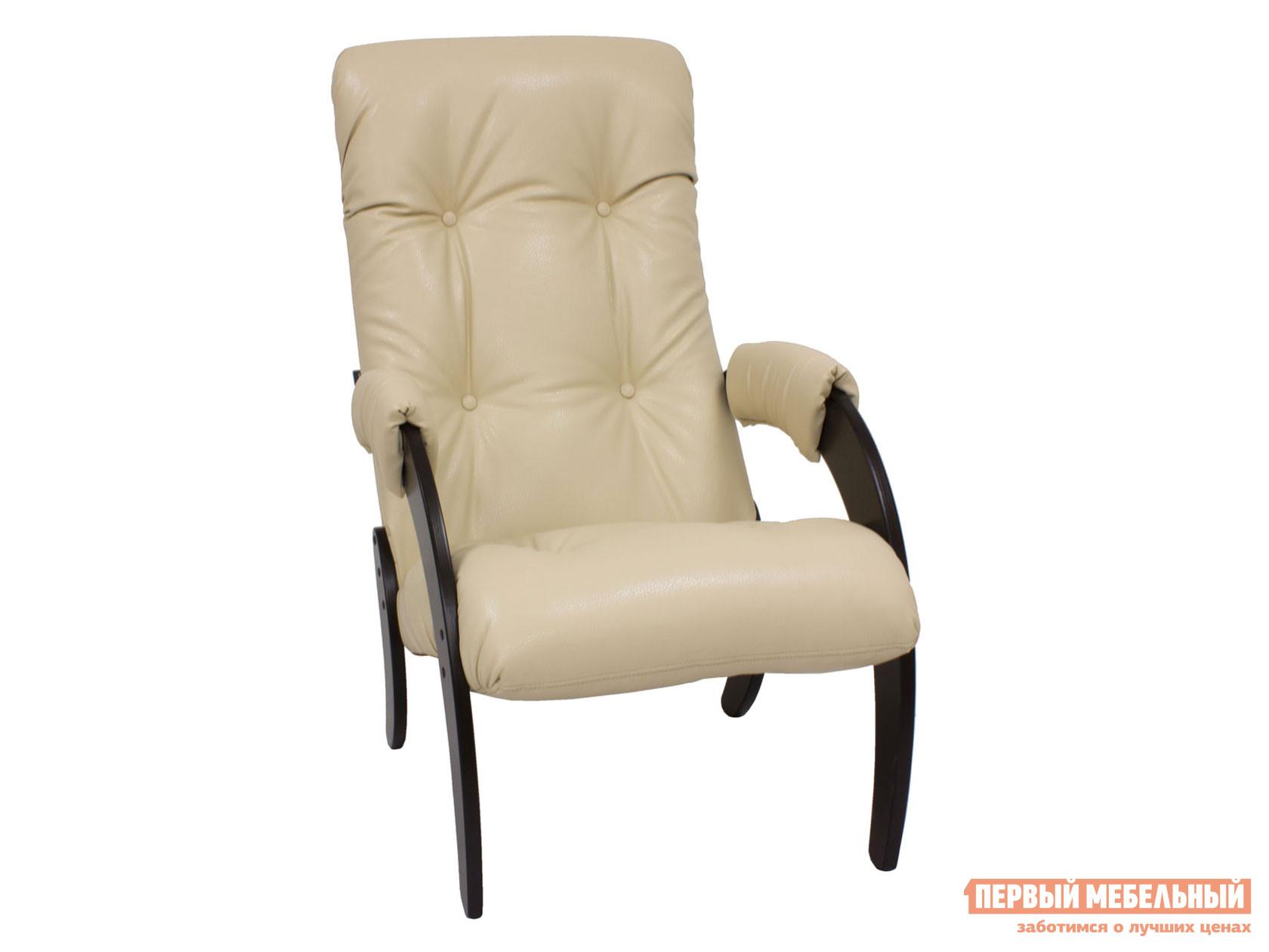 Кресло Кресло для отдыха Комфорт Модель 61 Венге, Polaris beige, иск. кожа фото