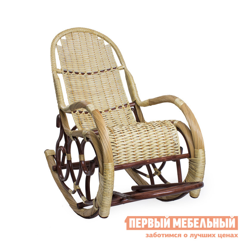 Плетеное кресло из лозы (ива) Мебель Импэкс Кресло-качалка Калитва