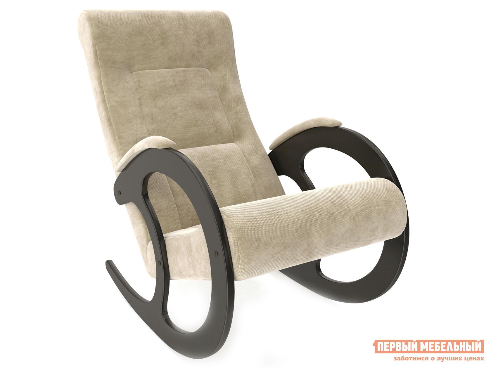 Кресло-качалка  Блуа КР Венге, Verona Vanilla, велюр Мебель Импэкс 99919