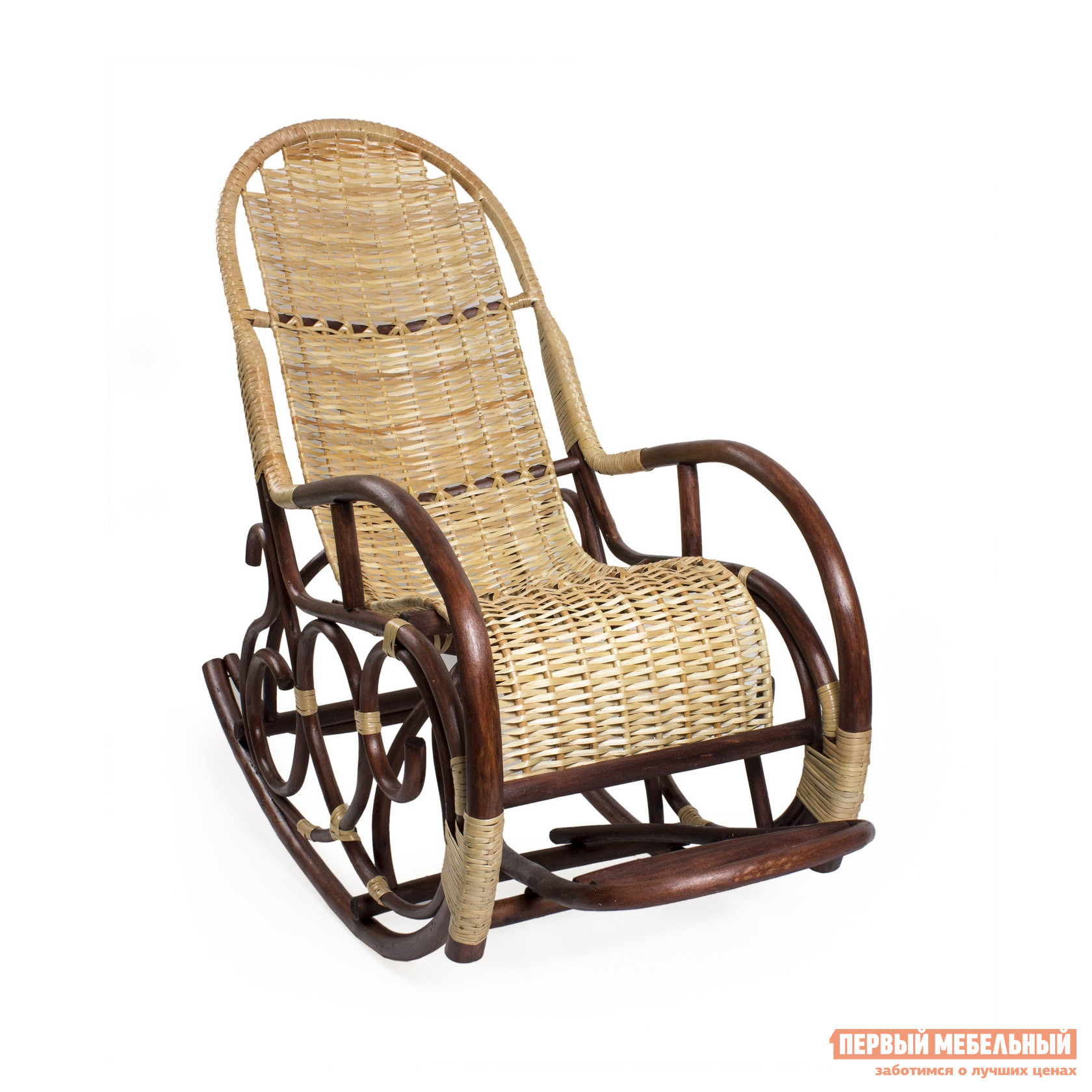 Кресло-качалка Мебель Импэкс Кресло-качалка Ведуга Орех / Светлая лоза от Купистол