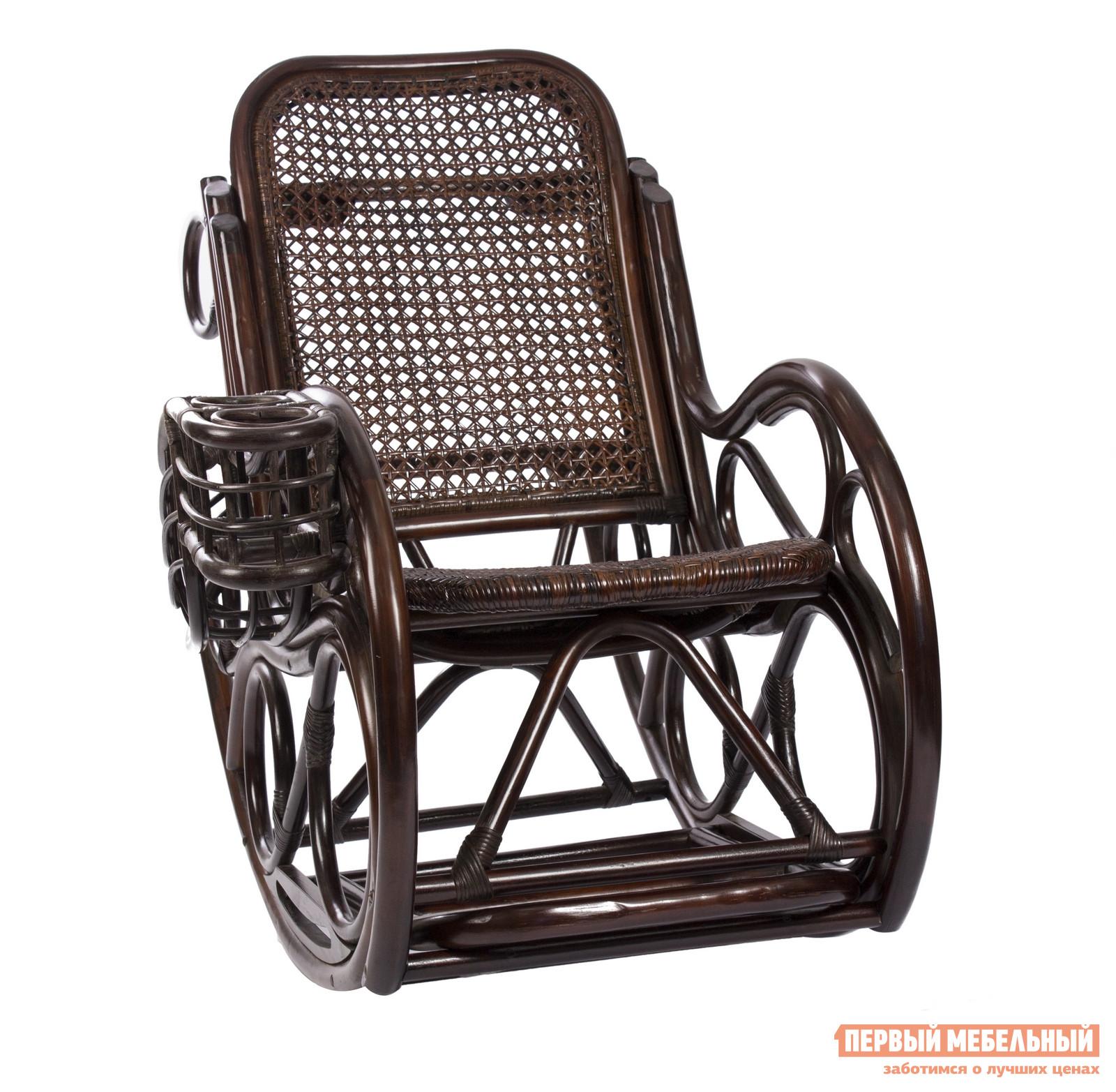 Кресло-качалка Мебель Импэкс Coral (Novo Lux) с подушкой Орех ротанг от Купистол