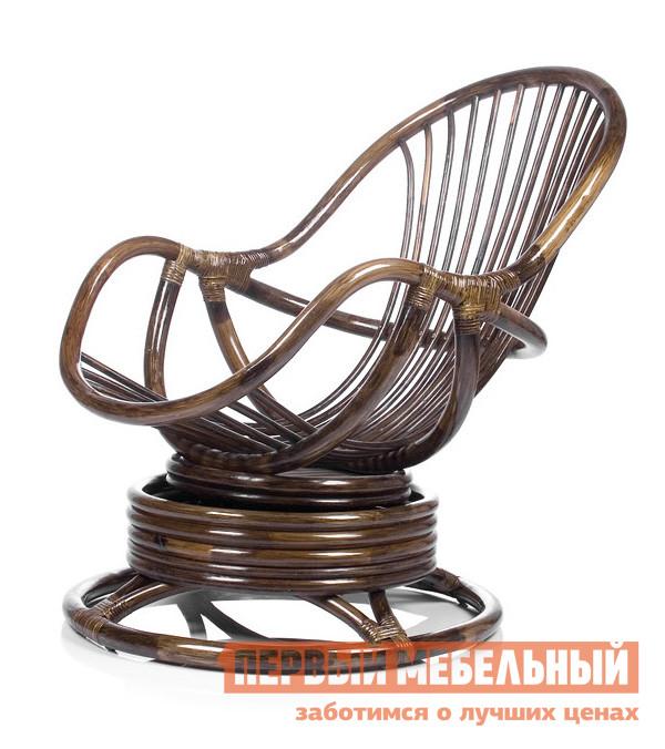Плетеное кресло Мебель Импэкс Кресло-качалка Kara с подушкой Орех ротанг от Купистол