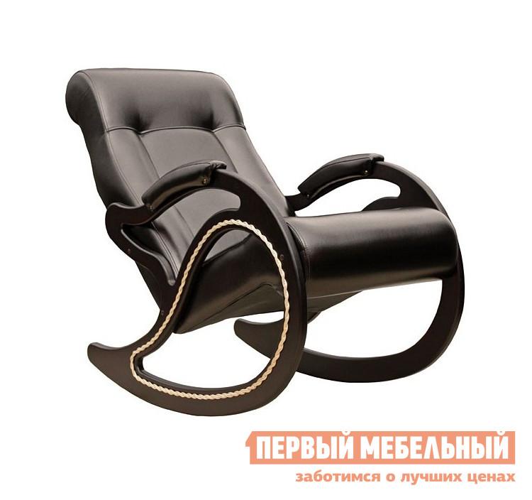 Кресло-качалка Мебель Импэкс Модель 7 (013.007) Орех шпон, Иск. кожа Орегон Перламутр 120