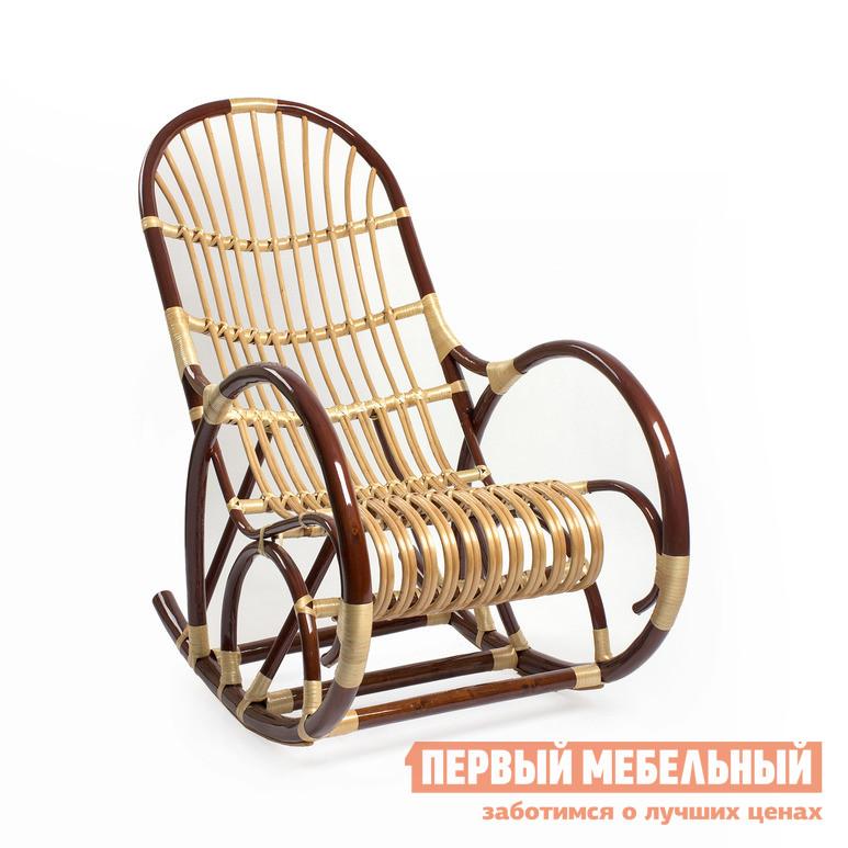 Плетеное кресло Мебель Импэкс Кресло-качалка Верба Орех / Светлая лоза от Купистол
