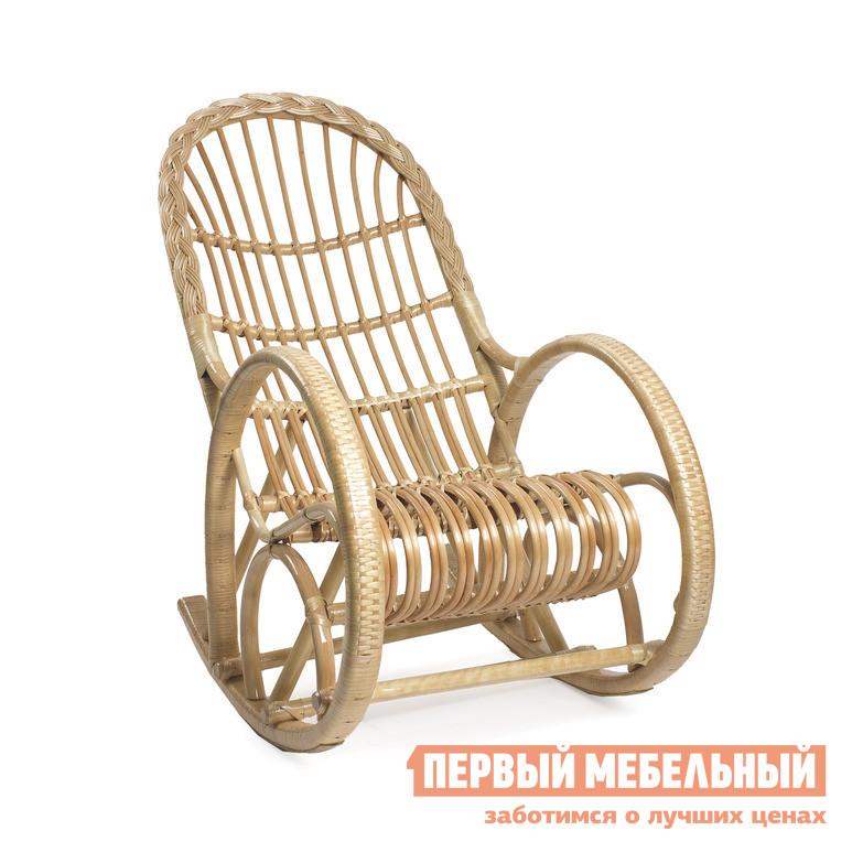 Плетеное кресло из лозы (ива) Мебель Импэкс Кресло-качалка Белая ива