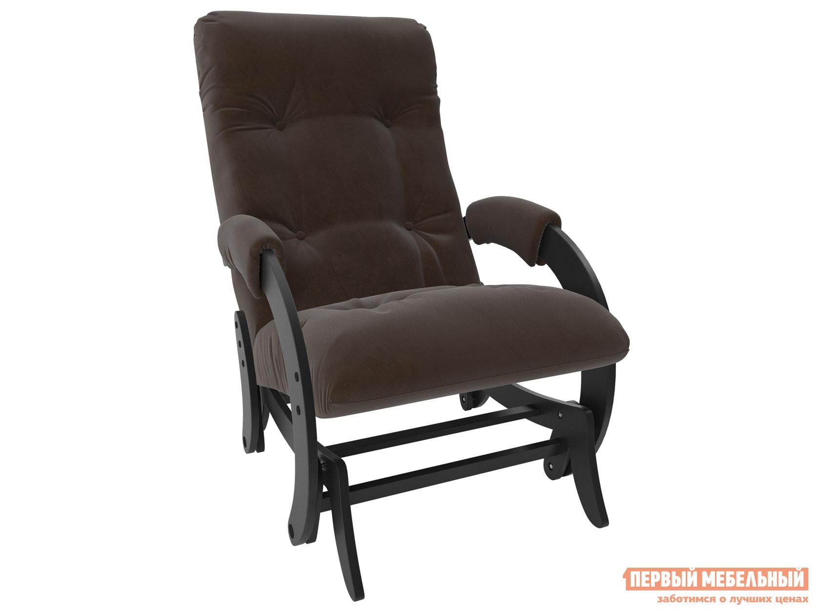 Кресло-качалка Кресло-качалка глайдер Комфорт Модель 68 Венге, Verona Brown, велюр фото