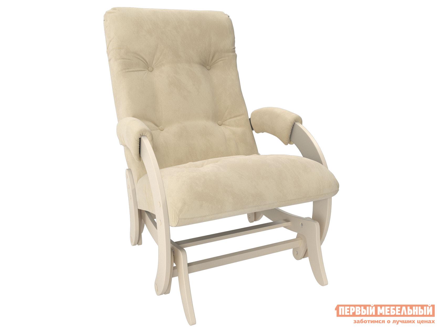 Кресло-качалка  Кресло-качалка глайдер Комфорт Модель 68 Дуб Шампань, Verona Vanilla, велюр