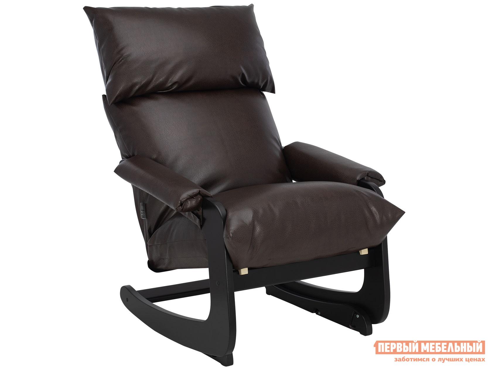 Кресло-качалка  Кьянти Венге, Vegas Lite Amber, иск. кожа Мебель Импэкс 102664