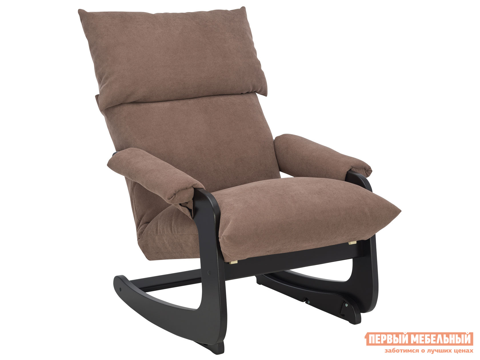 Кресло-качалка  Модель 81 Венге, Verona Brown, велюр