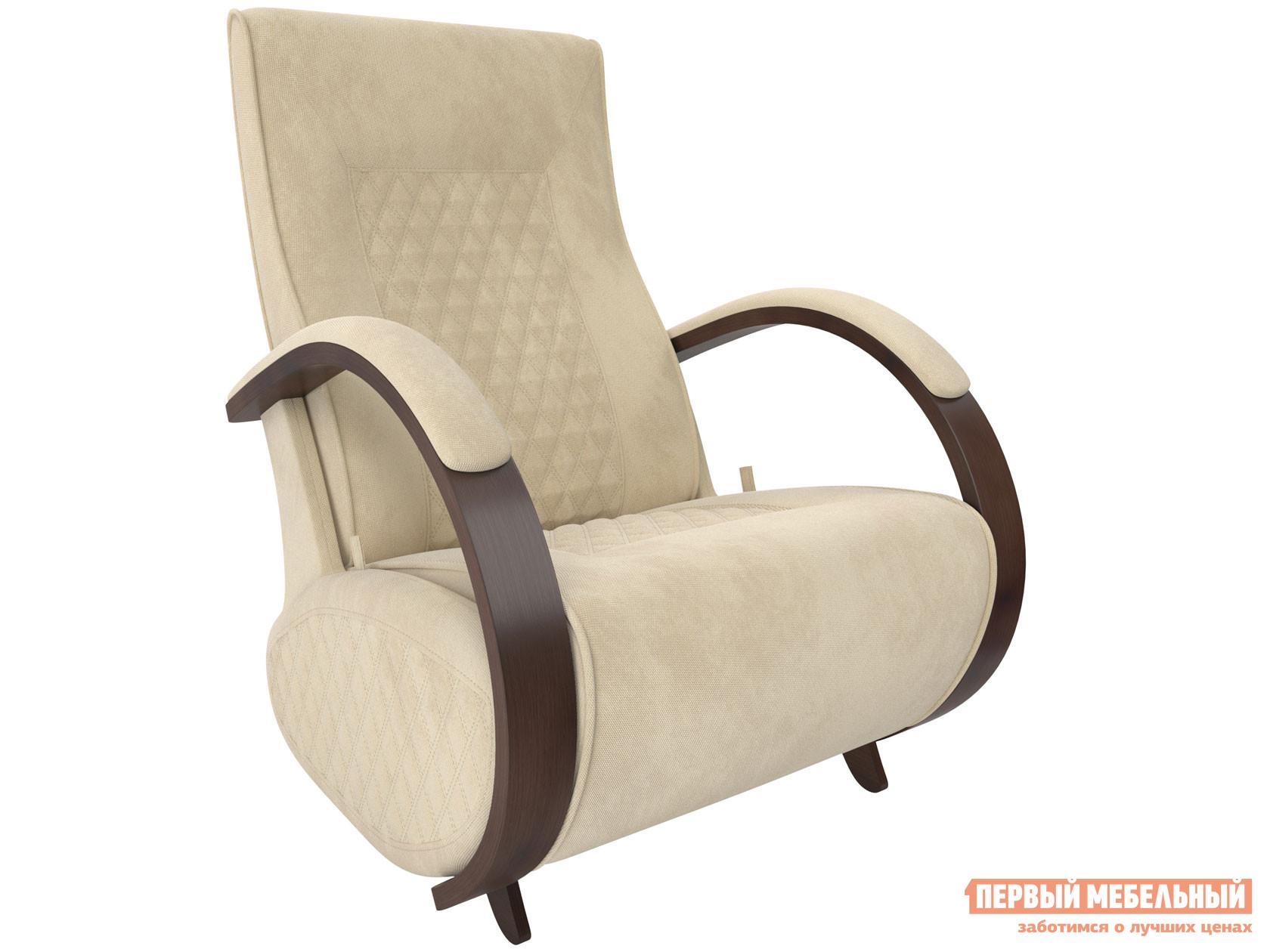 Кресло-качалка  Кресло-глайдер Баланс-3 Орех 39, Verona Vanilla, велюр Мебель Импэкс 84588
