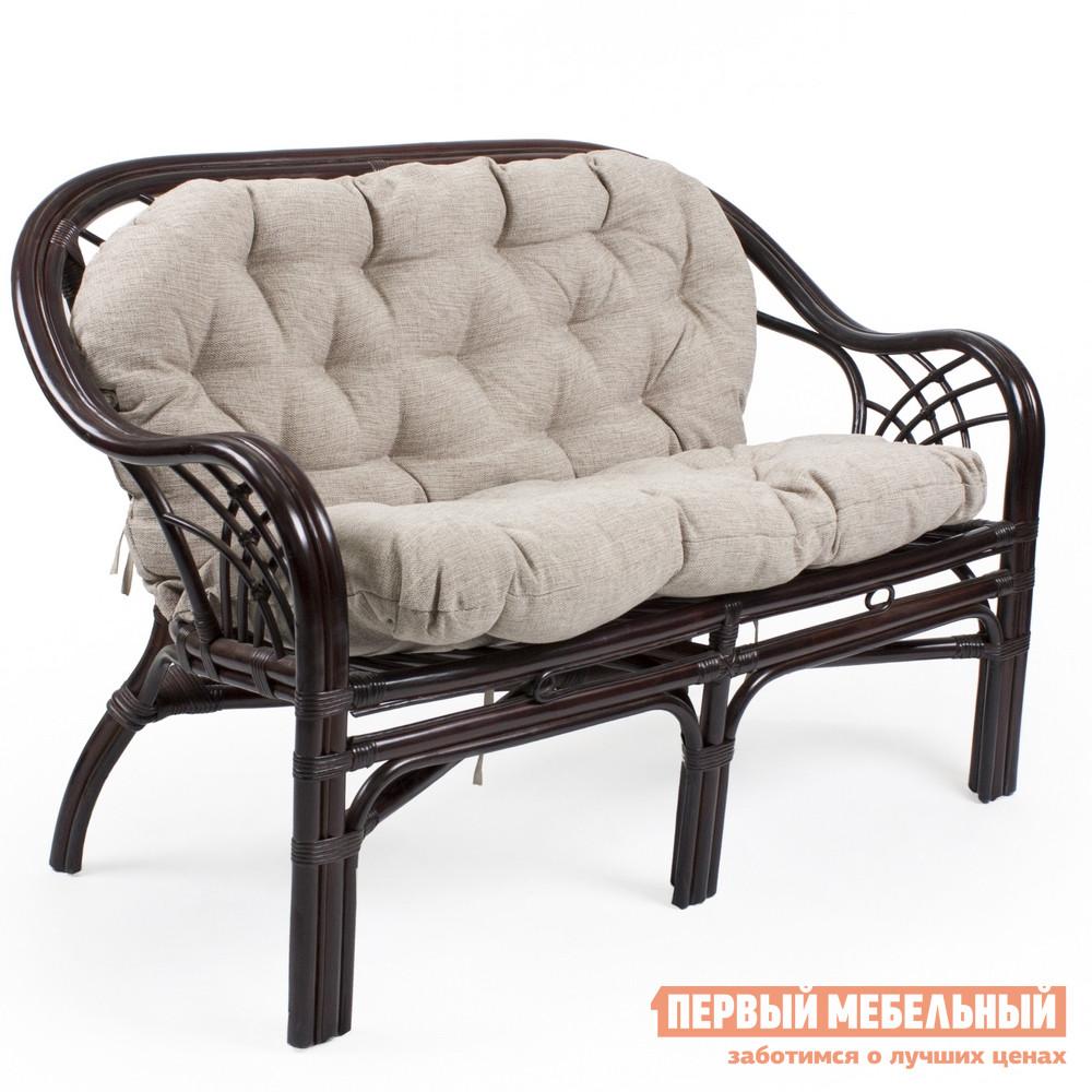 Плетеный диван из ротанга Мебель Импэкс Roma с подушкой