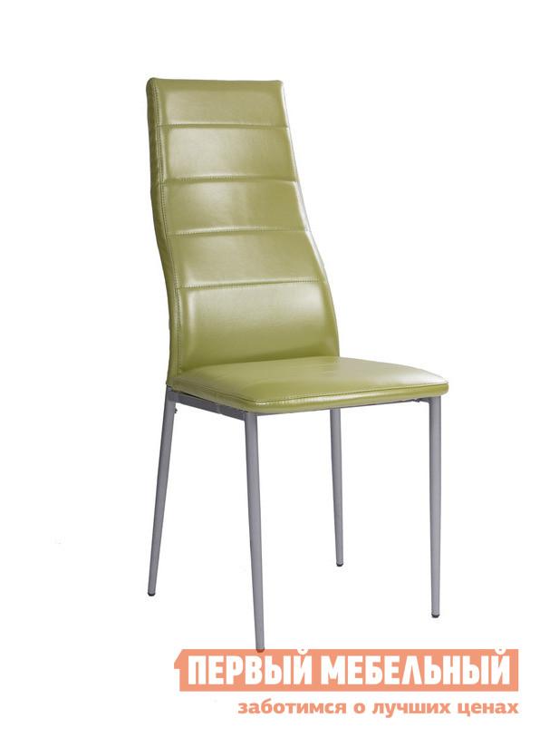 Стул Мебель Импэкс Leset 1005 Фисташковая иск. кожаСтулья для кухни<br>Габаритные размеры ВхШхГ 1020x410x420 мм. Изящный, модерновый стул очень удобен и прочен.  Легкий изгиб спинки поддержит позвоночник в правильном положении и позволит полностью расслабиться, а оригинальный внешний вид подойдет как для современного, так и более сдержанного интерьера. Прочный металлический каркас обеспечит долговечность изделию.  Мягкая обивка из качественной искусственной кожи подарит вам комфорт.<br><br>Цвет: Фисташковая иск. кожа<br>Цвет: Зеленый<br>Высота мм: 1020<br>Ширина мм: 410<br>Глубина мм: 420<br>Форма поставки: В разобранном виде<br>Срок гарантии: 1 год<br>Тип: в гостиную<br>Материал: Металлические, из искусственной кожи<br>Особенности: С мягким сиденьем, Без подлокотников, С мягкой спинкой