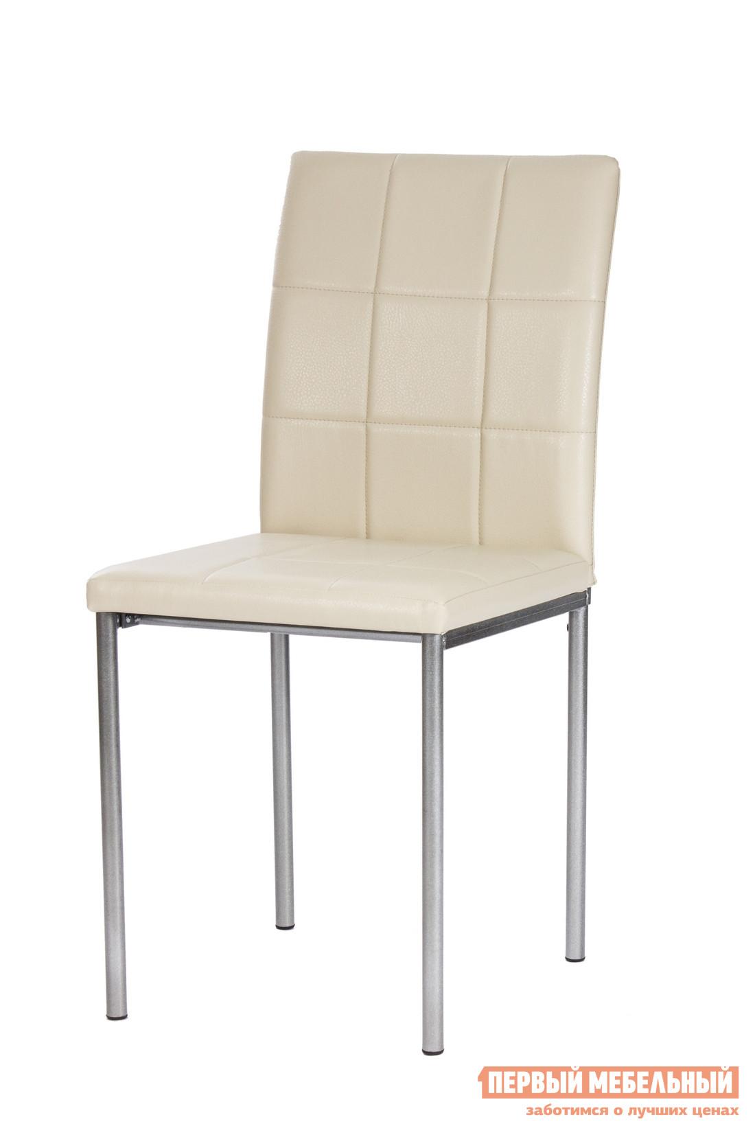 Стул Мебель Импэкс Leset 1007 Иск. кожа Слоновая костьСтулья для кухни<br>Габаритные размеры ВхШхГ 890x410x380 мм. Интересный и удобный стул на прочном металлокаркасе.  Представленная модель отлично дополнит как кухонный интерьер, так и столовую. Мягкая, приятная на ощупь обивка из высококачественной экокожи — практичное решение.  Такой материал долговечен и неприхотлив в уходе.  Спинка стула декорирована прострочкой.<br><br>Цвет: Бежевый<br>Высота мм: 890<br>Ширина мм: 410<br>Глубина мм: 380<br>Форма поставки: В разобранном виде<br>Срок гарантии: 1 год<br>Тип: Для гостиной<br>Материал: Металл<br>Материал: Искусственная кожа<br>С мягким сиденьем: Да<br>Без подлокотников: Да<br>С мягкой спинкой: Да