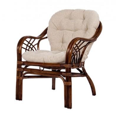 Плетеное кресло Мебель Импэкс Кресло Roma с подушкой Орех ротанг