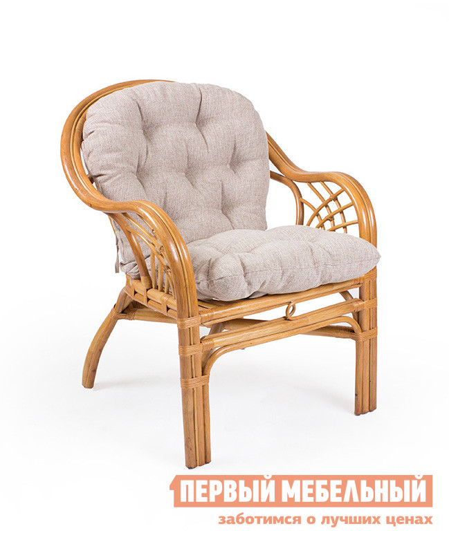 Купить со скидкой Плетеное кресло Мебель Импэкс Кресло Roma с подушкой Золотой мед
