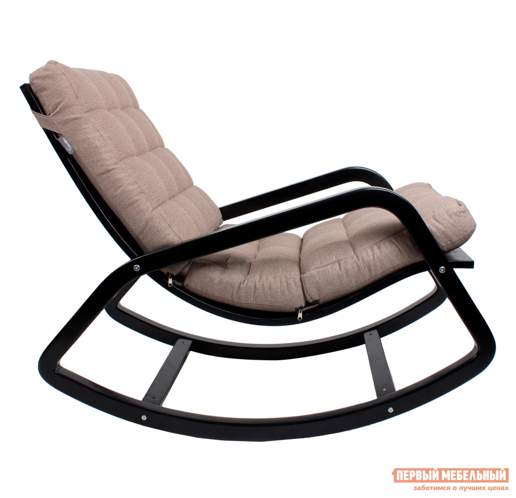 """Кресло-качалка Мебель Импэкс Кресло-качалка """"Онтарио"""" Ткань Гардения, Венге"""