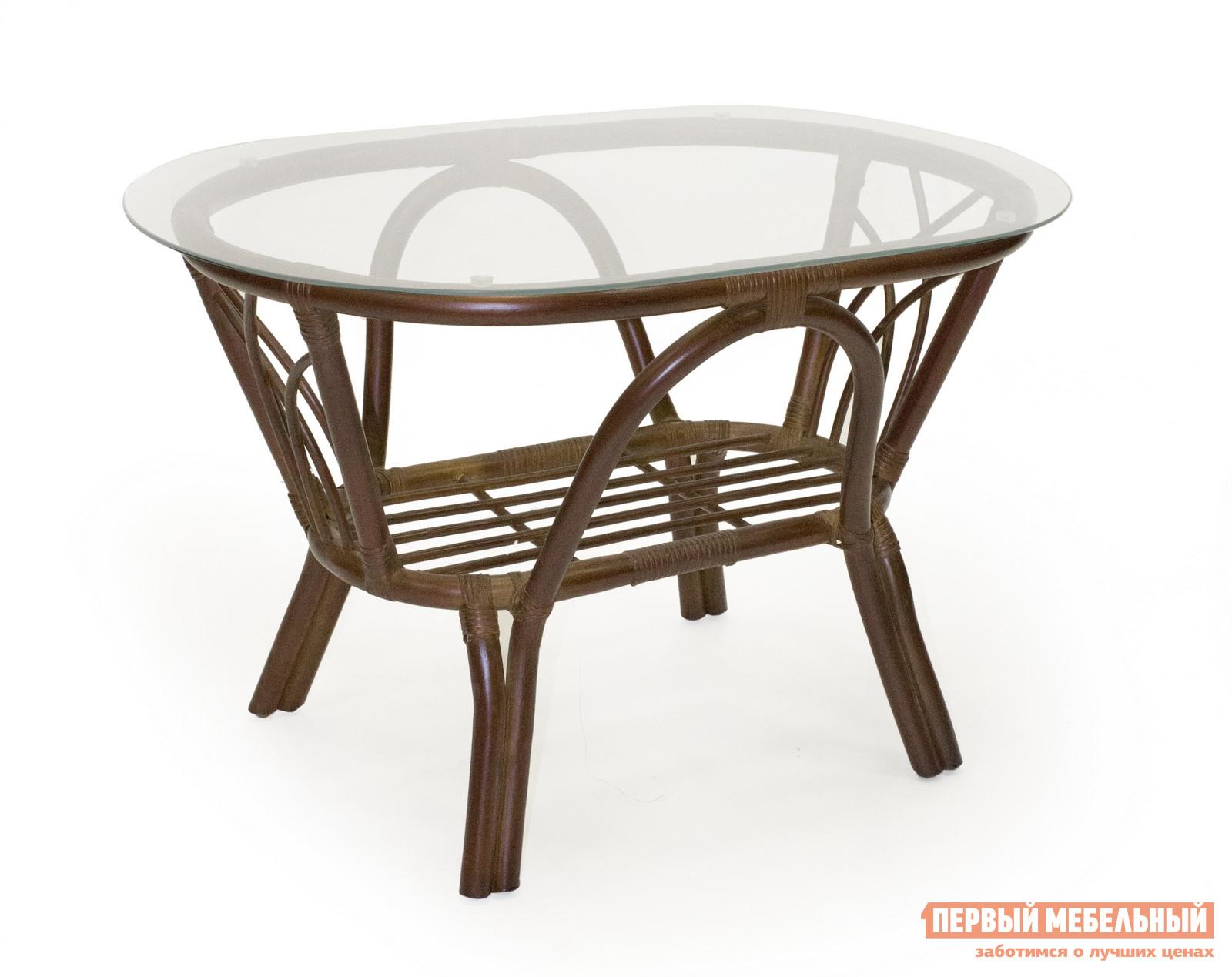 Плетеный стол Мебель Импэкс Журнальный столик Roma со стеклом