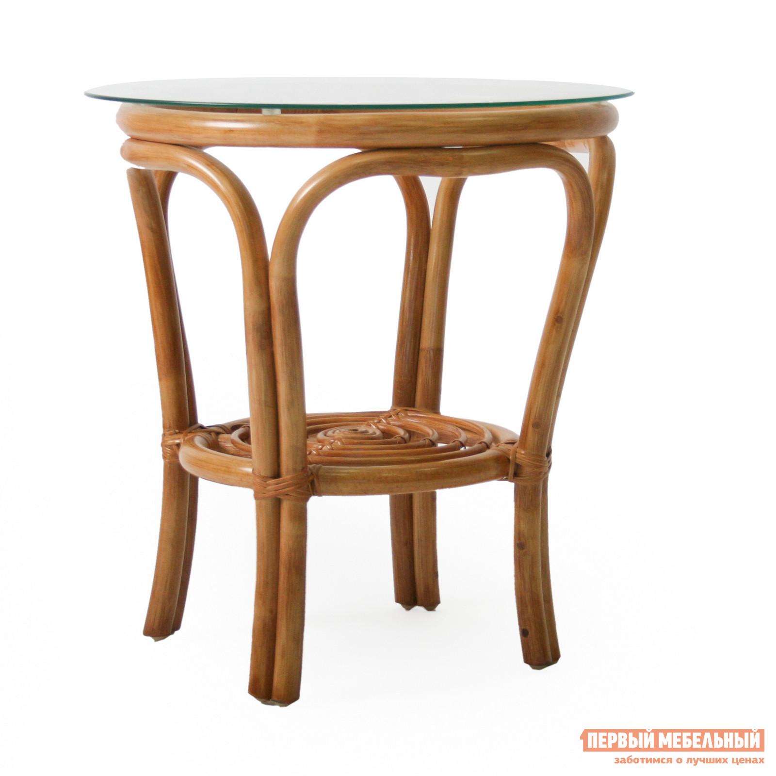 Плетеный стол Мебель Импэкс Журнальный столик Bali со стеклом