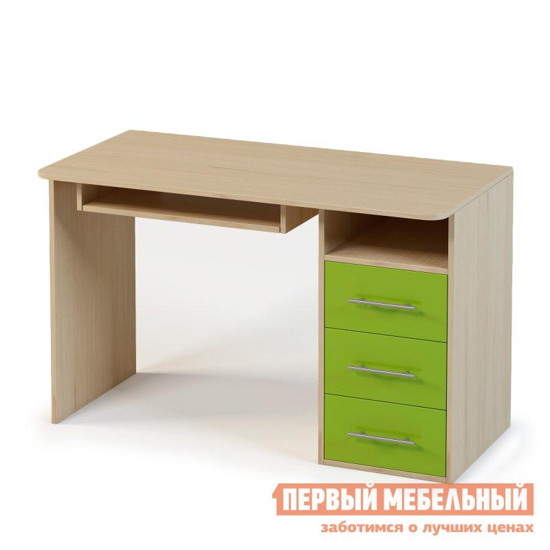 Фото Компьютерный стол детский Милана Милана 1.05 Дуб / Зеленый. Купить с доставкой