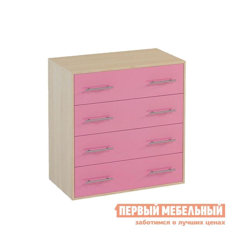 Комод детский  Милана 1.02 Дуб / Розовый
