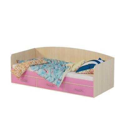 Детская кровать Милана Милана 12 Дуб / Розовый
