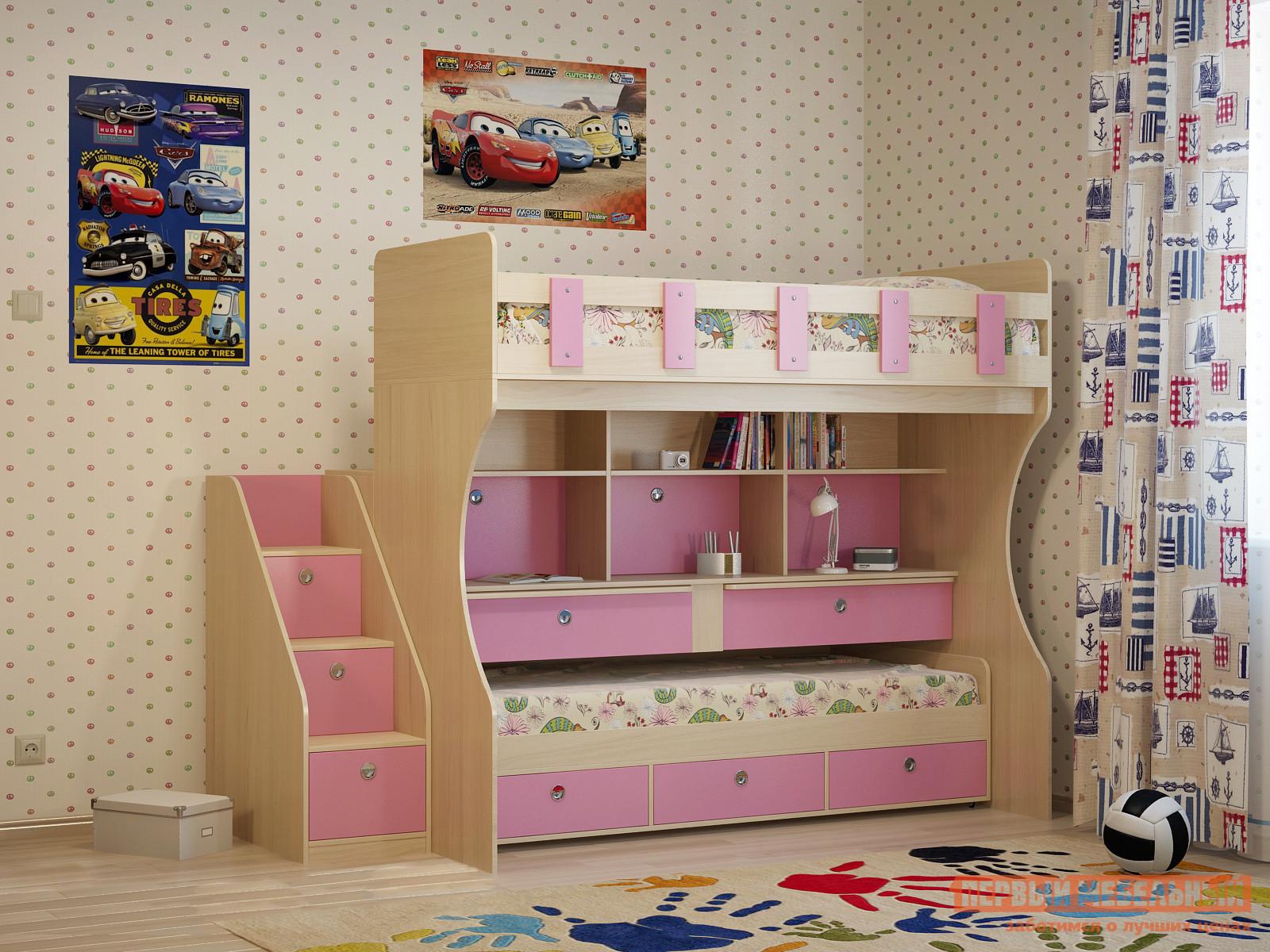 Двухъярусная выдвижная кровать-чердак Милана Милана-10 Дуб двухъярусная кровать милсон милана duo 200 х 80 см красная