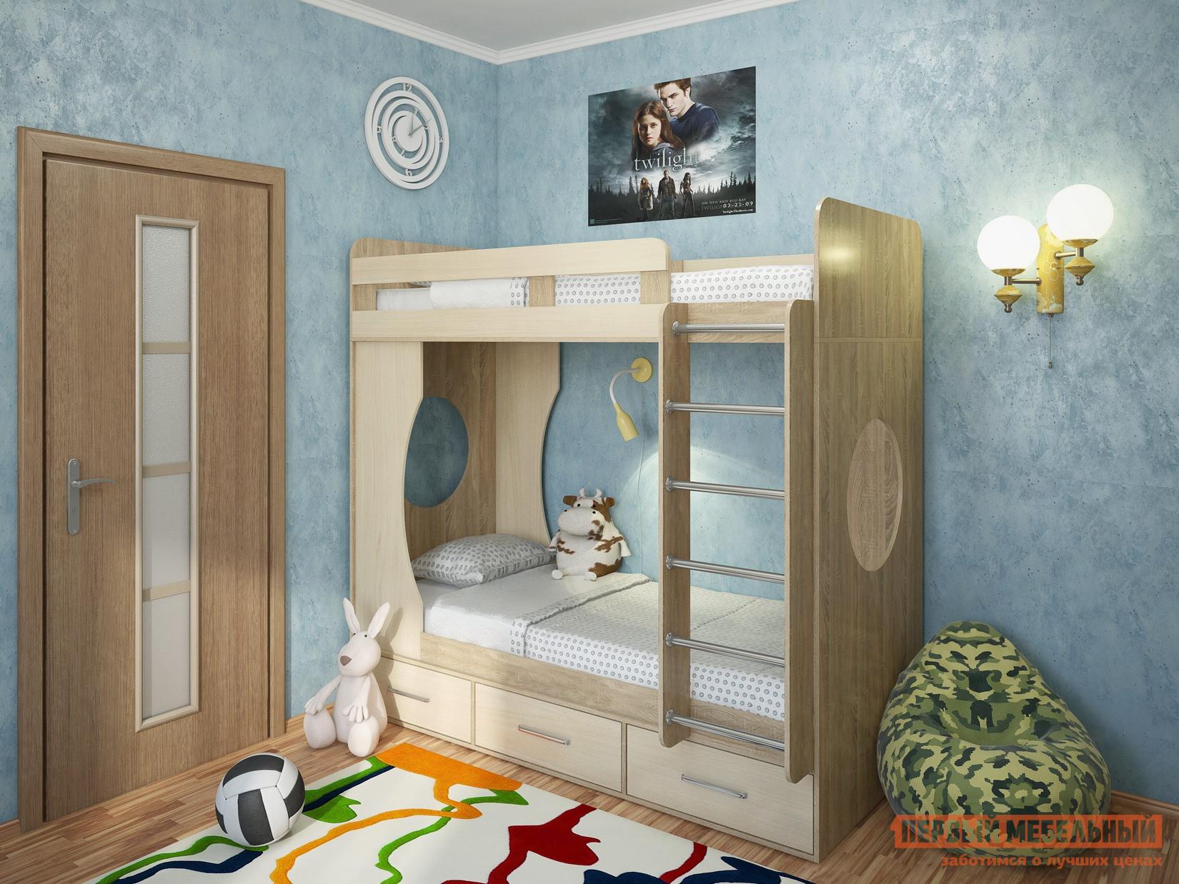 Двухъярусная кровать Милана Милана-1 Сонома двухъярусная кровать милсон милана duo 200 х 80 см красная
