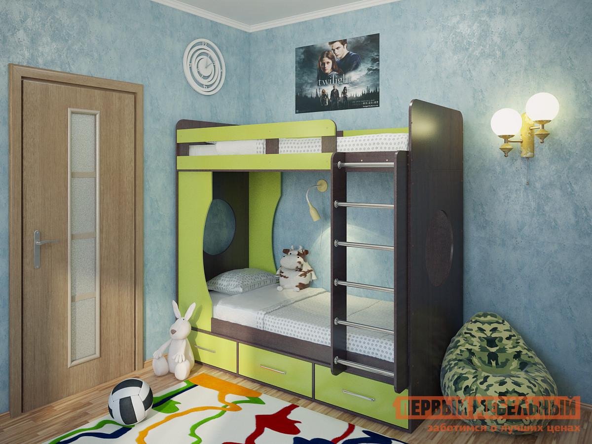 Двухъярусная кровать Милана Милана-1 Венге двухъярусная кровать милсон милана duo 200 х 80 см красная